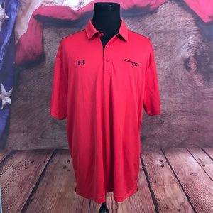 Under Armour Loose Heat Gear Red Polo Shirt 3XL